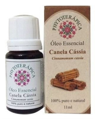 óleo essencial de canela cássia 11ml phytoterápica