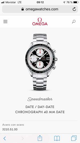 omega chrono speedmaster ( permutó sólo rolex)