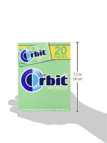 Orbit Sugarfree Gum, Bulk 20 Paquetes, Sweet Mint