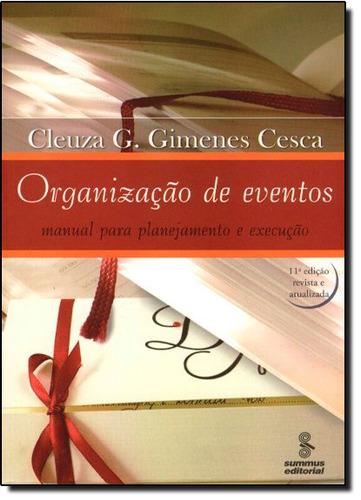 organização de eventos manual para planejamento e execução d