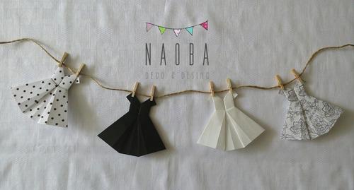 origami vestidos papel souvenir eventos colgante guirnalda