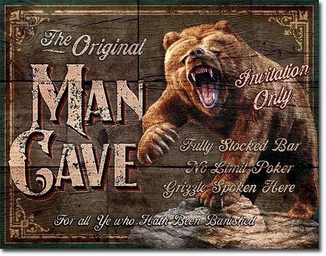 original man cave cartel vintage de chapa 1925 - elbunkker e