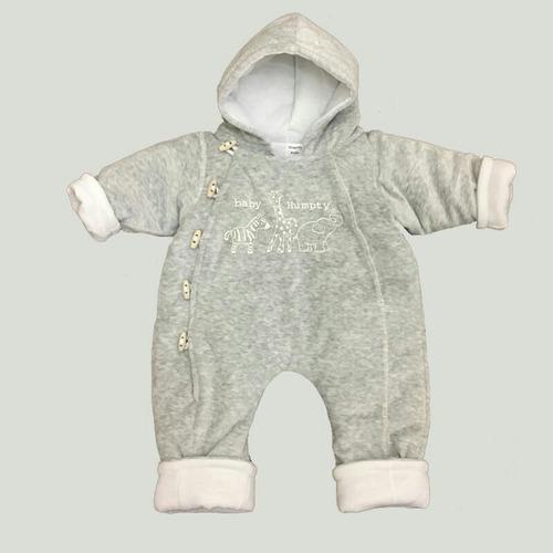 osito enterito tipo astronauta para bebé plush guata y algod