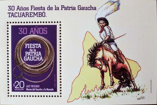 osl hojita 110 sello uruguay 30 años patria gaucha caballo