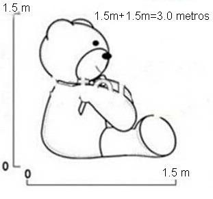 oso de peluche jumbo 3 metros (lote de 3 piezas)
