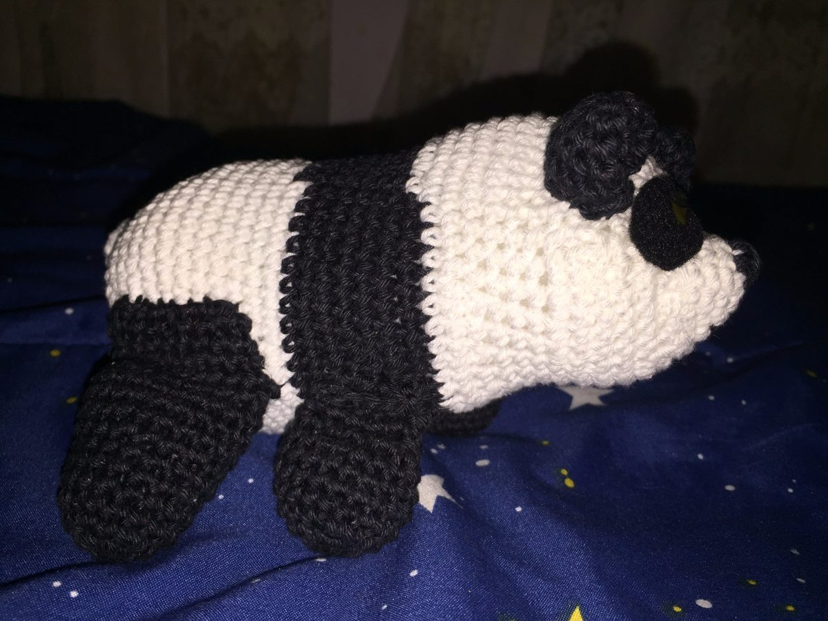 Oso Panda Amigurumi Crochet Muñeco Peluche - $ 299,00 en Mercado Libre