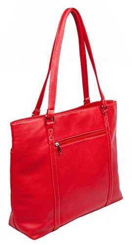 6dad21b80 Overbrooke Classic Laptop Tote Bag, Rojo - Vegan Leather Wom ...