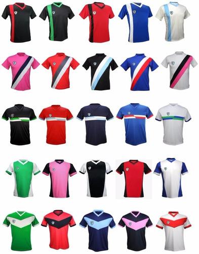 pack 11 camisetas futbol escudo personalizado y numero yakka