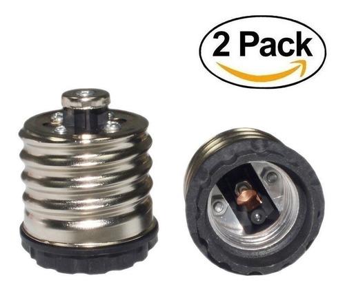 pack 2 bombilla zócalo adaptador mogul base e39/e40 e26/e27