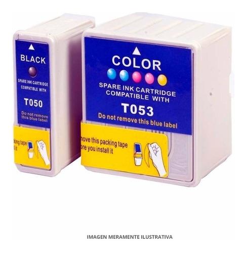 pack 2 negro t050 + 1 tricolor t052 compatible epson 440/480