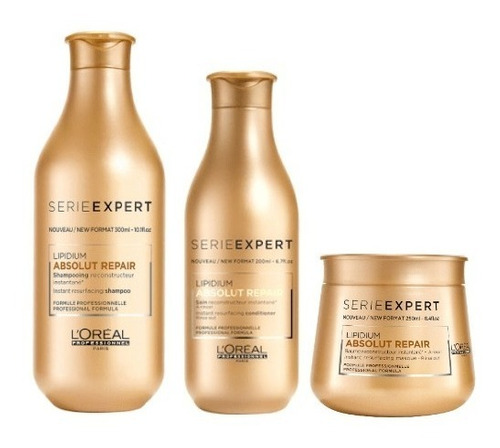 pack absolut repair loreal - shampoo + acondicionador + mas