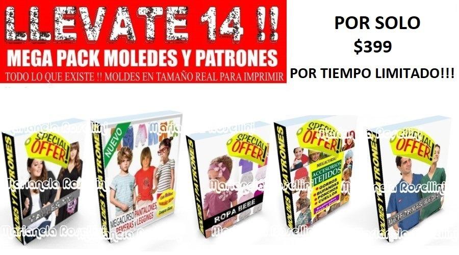 Pack Confeccion Moldes Patrones Todo Y Mas De Lo Que Buscas! - $ 199 ...