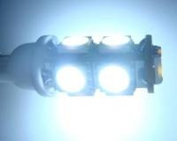 pack de 2 lámparas t10 con 9 led smd 5050 blanco p/ posición