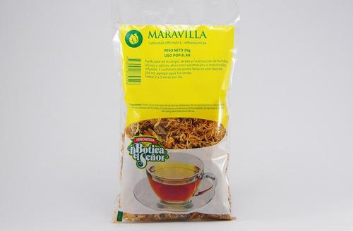 pack de 2 té de cálendula o maravilla botica del señor 20g