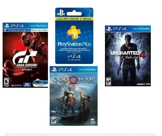 Pack De Juegos Ps4 Los 3 Mejores Juegos 3 Meses De Plus U S 100