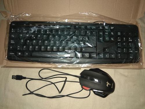 ¡pack de teclado y mouse sin uso!