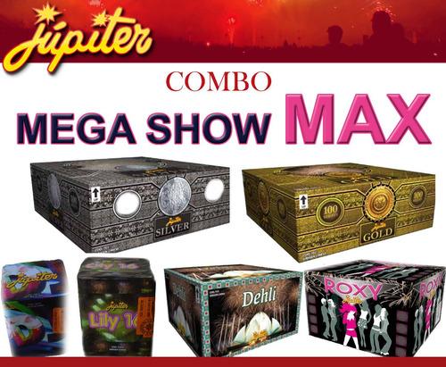 pack jupiter mega show max 300 tiros fuegos artificiales st
