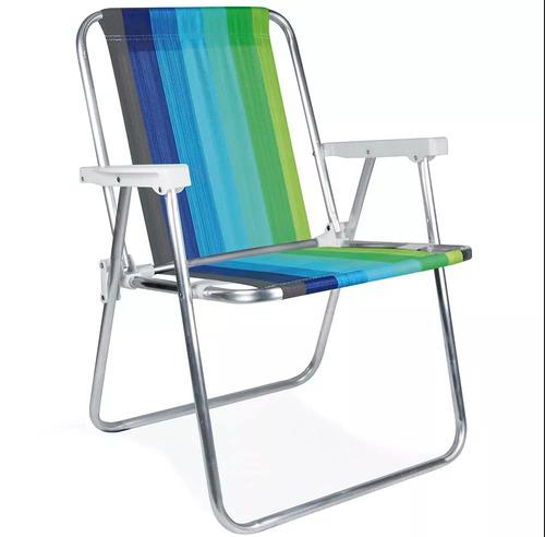pack x 2 silla mor aluminio alta plegable playa disershop