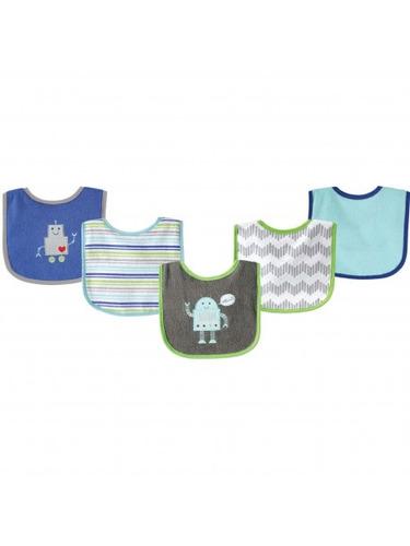 pack x 5 baberos bebe mvdkids algodón nylon