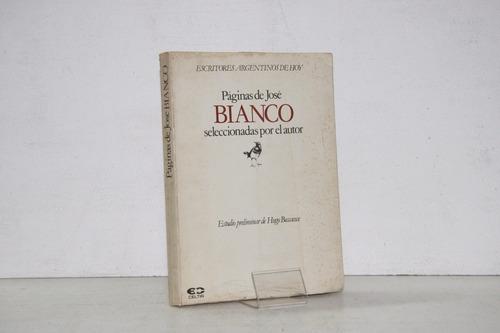 paginas de jose bianco seleccionadas por el autor