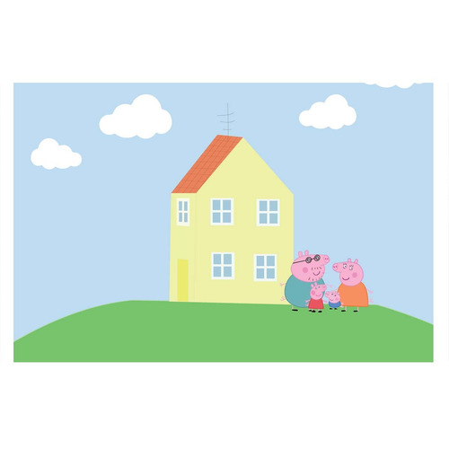 painel decorativo festa infantil peppa pig casa