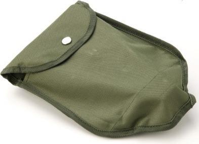 pala y pico plegable metálica con estuche color verde