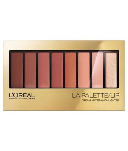 paleta de labiales loreal lip la palette nude 03