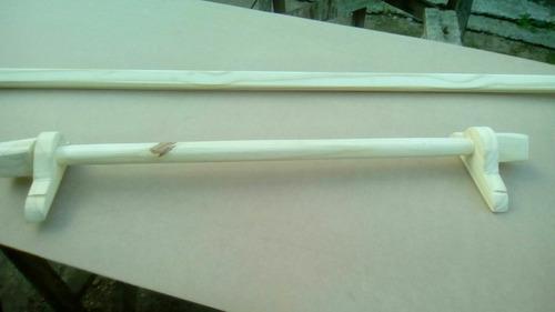 palos para cortinas, respaldos,etc,con soporte y terminales
