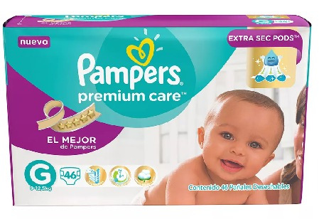 pampers premium care grande (20 unidades)
