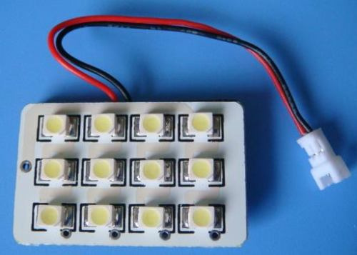 panel 12 leds smd 1210 conector varios t10 ba9s tipo fusible