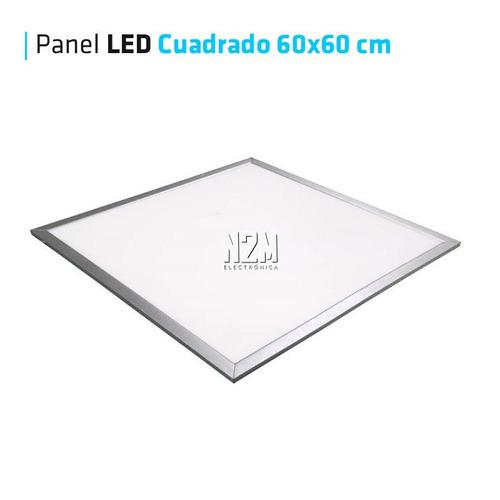 panel plafon led 60x60 cm cuadrado iluminacion led x4