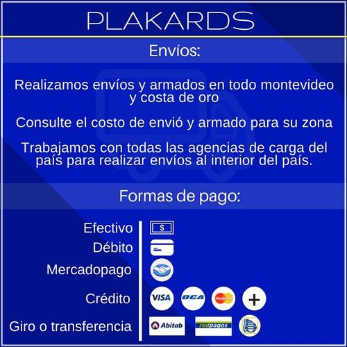 panel ranurado + 8 ganchos | exhibidor mercaderia #plakards