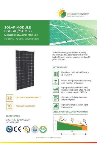 paneles solares fotovoltaicos ecogreen - desde 10w