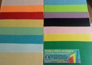 paño fieltro artesanía y manualidades 30x21 =  a4 15 colores