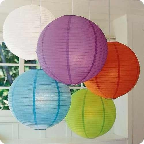 pantalla china de papel varios  colores