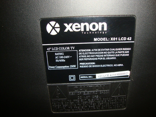 pantalla display completa tv42  xenon lcd $4990