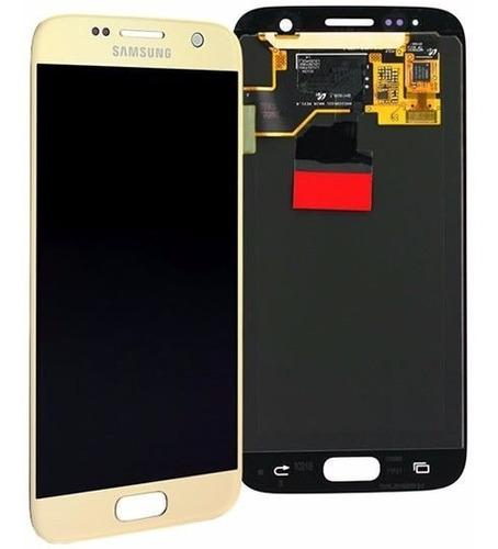 pantalla lcd display vidrio samsung galaxy s7 g930 colocada