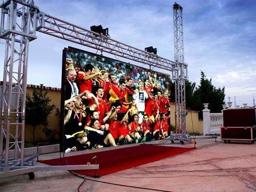 pantalla  led p10 exterior rental eventos publicidad outdoor