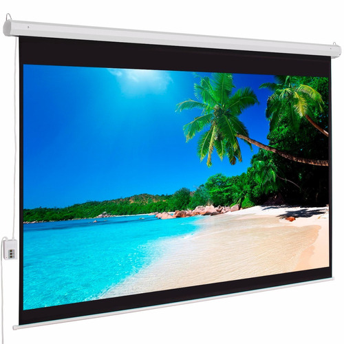 pantalla proyector 100 motorizada c.remoto 200x150cm aprox