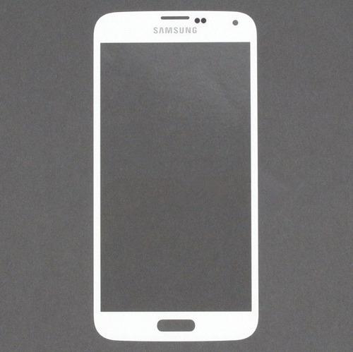 pantalla vidrio samsung galaxy s5 9600 blanco