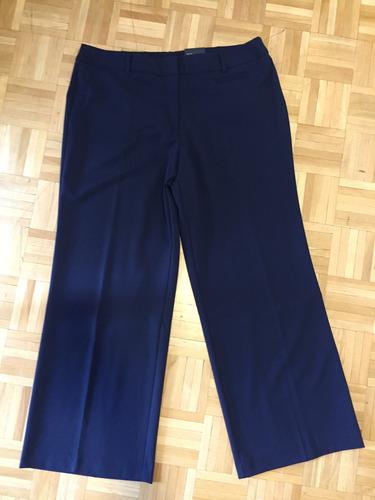 pantalon azul de vestir dama mujer talle 16 george nuevo usa