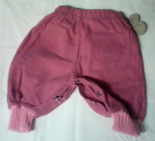 pantalón babucha,pañalero.de pana.para bebé.talles 0, 00 y1.