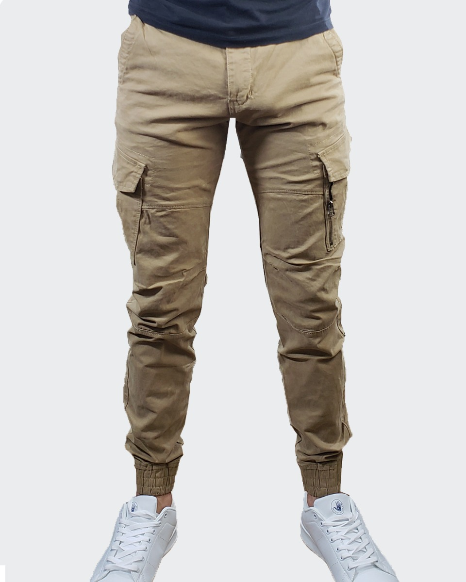 6d741baaaacfb de beige moderno ® diseño hombre juvenil Cargando cargo y zoom pantalon  7qBnECw6Hw