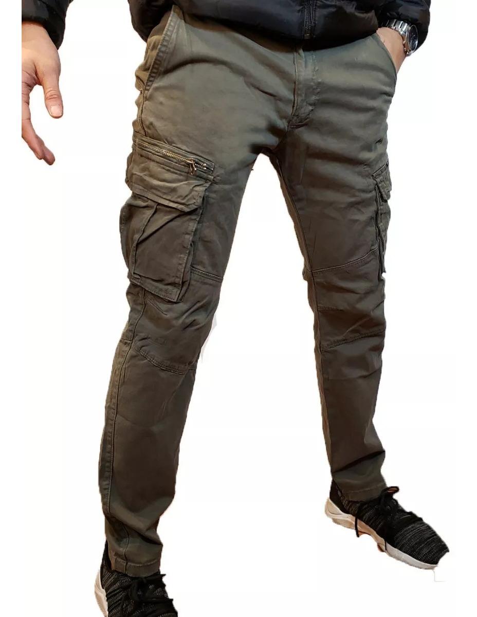 Pantalon Cargo Verde De Hombre Diseño Moderno Y Juvenil ...