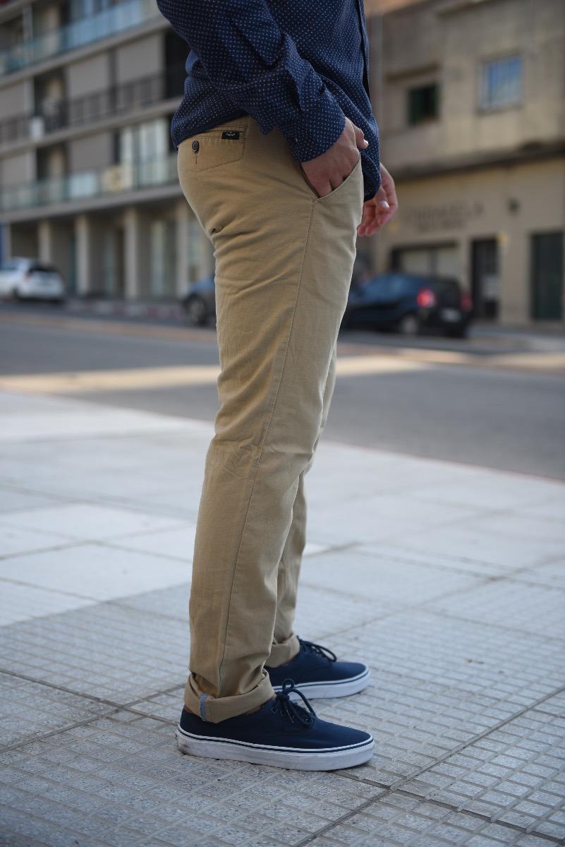 Pantalon Gabardina Beige - $ 899,00 en Mercado Libre
