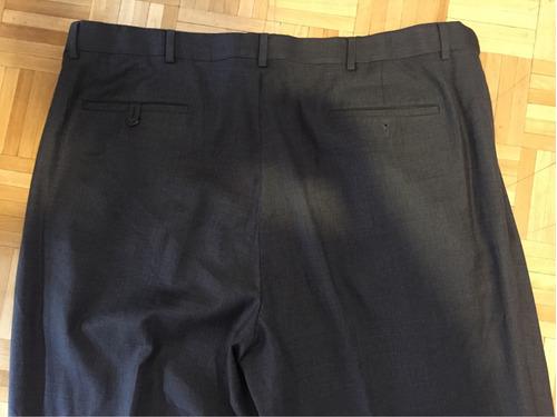 pantalon gris de vestir hombre talle 44 x 34 roundtree usa