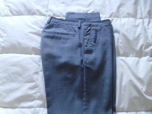 pantalon hombre zara gris claro talle 41