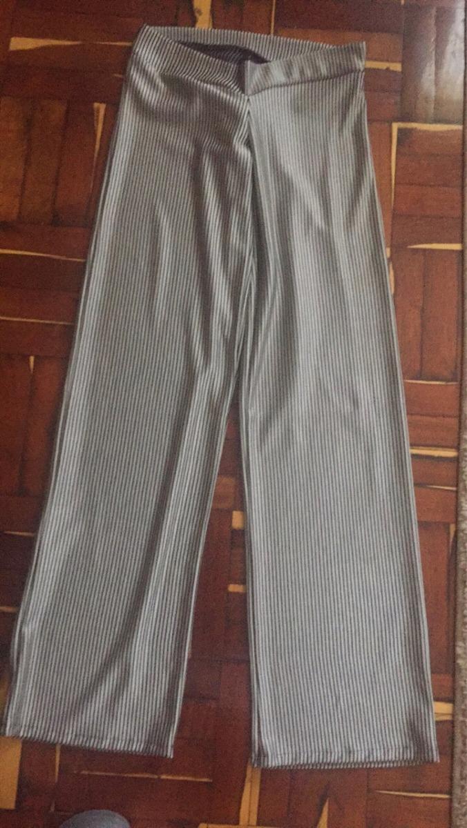 pantalón palazzo gris negro rayas talle s tela elastizada. Cargando zoom. 52e55d06018d