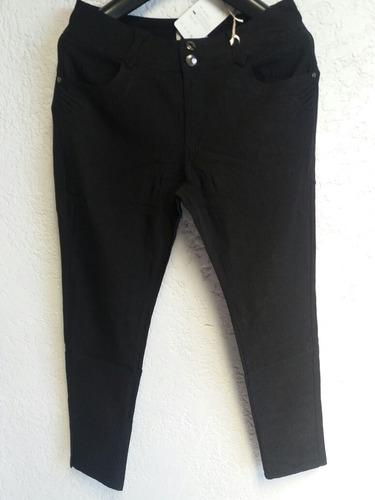 pantalones alycrados chupin. talles 3xl al 7xl. - luma