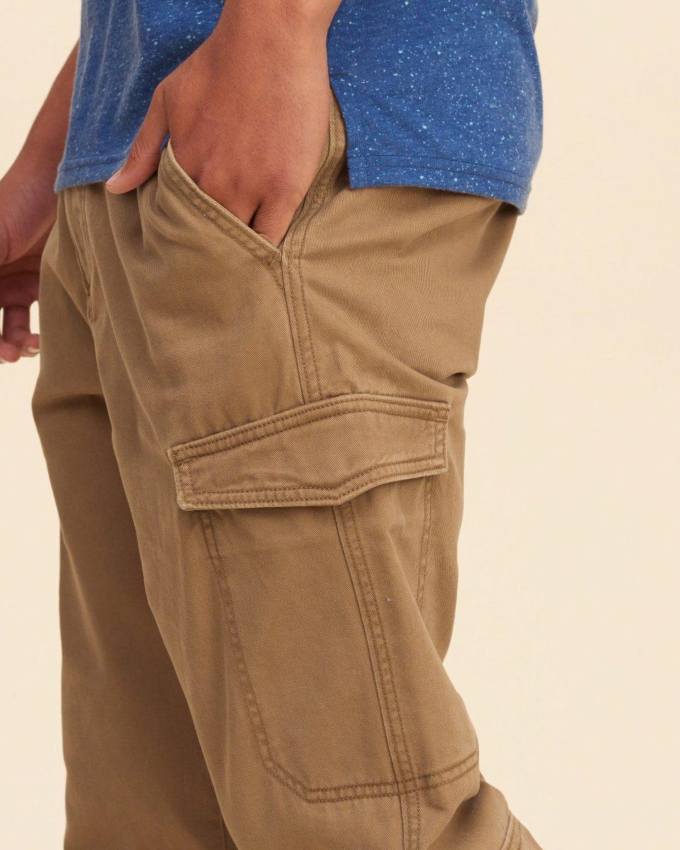 Pantalones Cargo Hollister Color Camuflado - Caqui ...